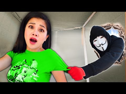 HACKER TRAPS ME in a MYSTERY BOX in Car for 24 HOURS! Last To Leave Escape Room Wins Challenge
