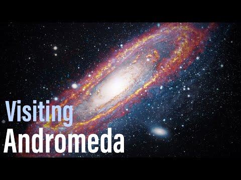 Visiting Andromeda galaxy