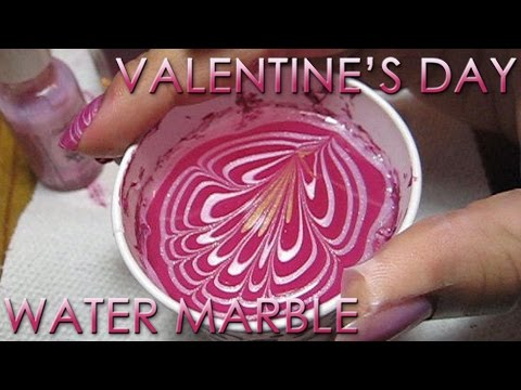 nail art - stile san valentino, indicato per serate particolari