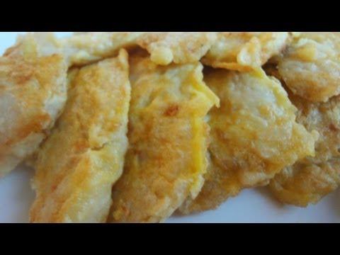 Korean Recipe: How to Make Cod Fish Pancake – Cod Fish Fritters – Daegujeon