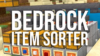 How to Build a Simple Tileable Item Sorter for Bedrock Minecraft! (MCPE, Xbox, PS4, Switch, etc)