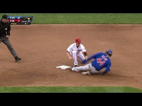 Video: CHC@CIN: Choo's cannon arm nails Rizzo at second