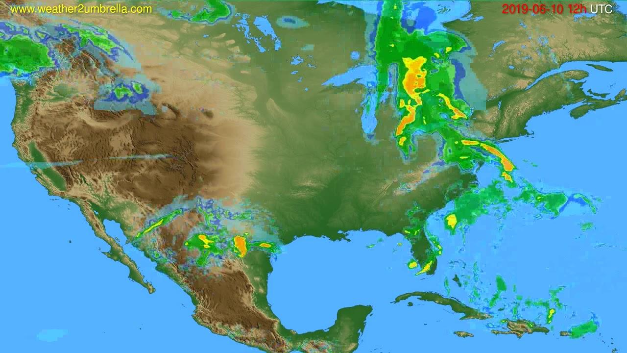 Radar forecast USA & Canada // modelrun: 00h UTC 2019-06-10
