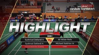 Video Syahrizal D/Syahrozi D (Pratama Badminton Academy) VS Ali Akbar/Michael Kaldrian (CWIBC) MP3, 3GP, MP4, WEBM, AVI, FLV November 2018