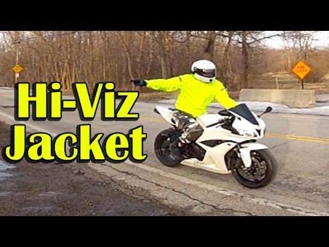 Hi Viz Motorcycle Jacket Review - RevIT Cyclone H20 Motorcycle Rain Jacket