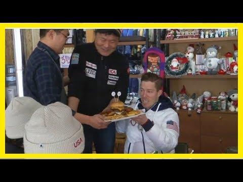 Olympic Snowboarder Shaun White Enjoys a 'Flying Tomato' Burger