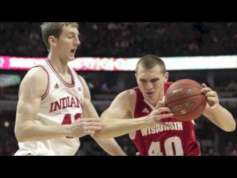 Big Ten Tournament Final - Ryan Evans jumps when he shoots free throws. Ben Brust looks as if he just got his driver's license, and Mike Bruesewitz's shaggy hair draws snickers every t...