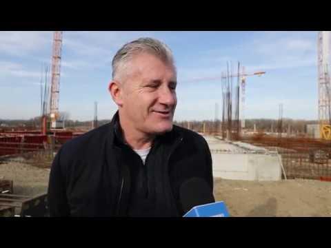 Davor Šuker i Igor Galić obišli gradilište novog osječkog stadiona