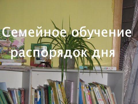 Семейное образование. Распорядок дня. (видео)