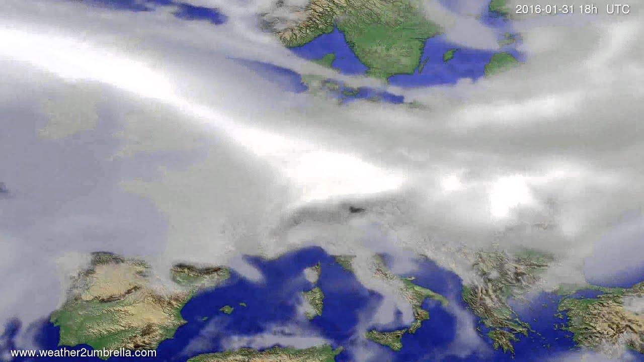 Cloud forecast Europe 2016-01-28