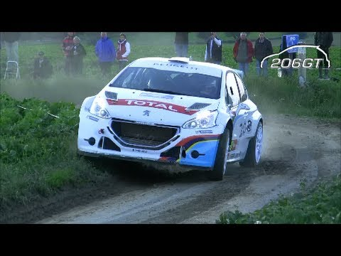 Ford Fiesta R5 VS Peugeot 208 T16 R5 Rally Ypres 2013 [HD]