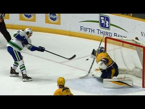 Video: Rinne preserves Predators victory by denying Eriksson