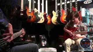 Jackson-Charvel Guitar exhibit at the 2015 NAMM show in Anaheim, California