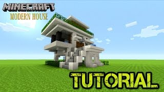 Minecraft: How to build a small survival house Tutorial | Small Modern house tutorial | Tu35