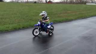 10. 4yrs old Ryder Farley riding his Yamaha PW50 dirt bike with training wheels
