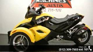 9. 2009 Can-Am Spyder Roadster SM5  - Dream Machines Indian ...