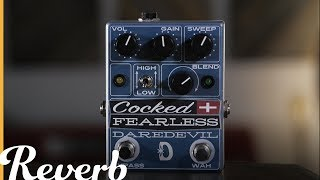 Daredevil Pedals has combined two of their pedals to create a whole new beast, the Cocked & Fearless (http://bit.ly/2uYor4c). The Fearless Distortion is a non-buffered distortion pedal and it has been combined with the Atomic Cock, which acts like a cocked-wah with a filter knob replacing the wah pedal. Now combined, the Cocked & Fearless is perfect for raunchy lead tones, Brian May-style solo tones and much more.Read more about the Daredevil Cocked & Fearless at http://bit.ly/2wayhEw.