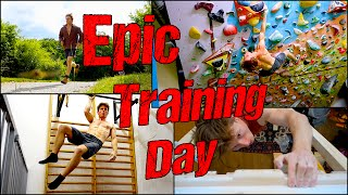 Epic Day : 5 Hours of Training fueled by Vegan Calories ! | Rock Climbing Workout Motivation by Mani the Monkey