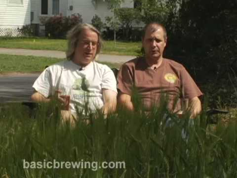 Basic Brewing Video – Homegrown Barley and Container Hops – March 24, 2009
