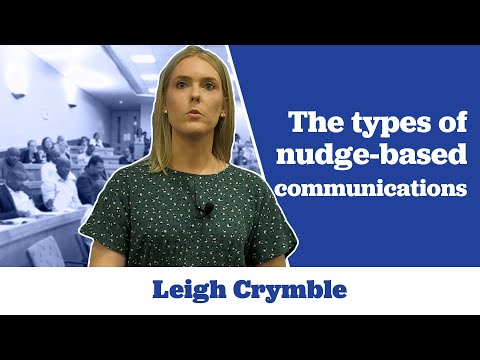 Leigh Crymble on the Types of Nudge-Based Communications