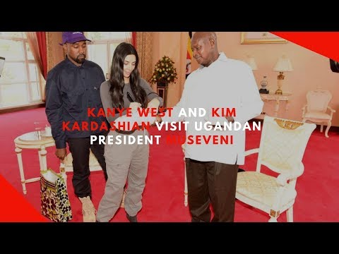 Kanye West gifts Uganda's Museveni a pair of sneakers