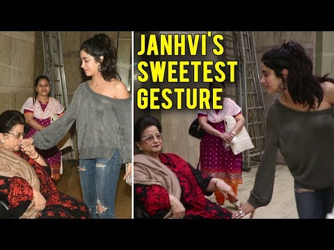 Janhvi Kapoor Touches Grandmother Feet Before Dhad