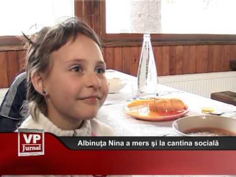 Albinuţa Nina a mers şi la cantina socială