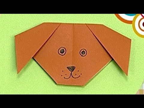 How to make a Paper Dog (Tutorial) - Paper Friends 38 | Origami for Kids