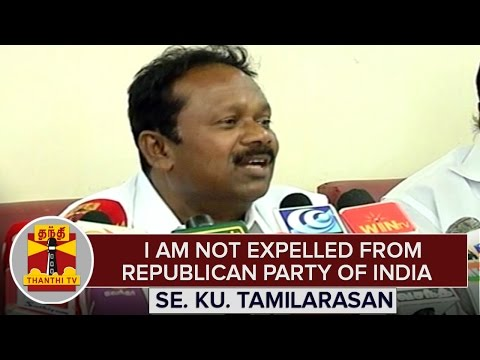 I-am-not-Expelled-from-Republican-Party-of-India--C-K-Tamilarasan-Explains