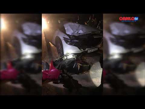 Ô tô gây tai nạn bỏ trốn, kéo lê xe máy trên đường