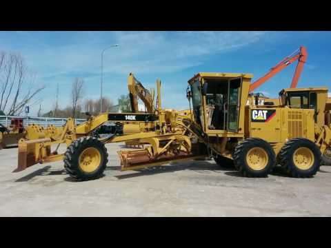 CATERPILLAR MOTOR GRADERS 140 K equipment video OPTKNQInZ1U