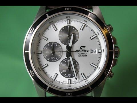 EDIFICE EFR-526L-7A | Обзор и настройка (на русском) | Купить со скидкой (видео)