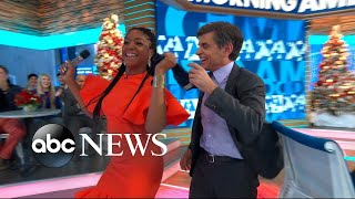Video Tiffany Haddish thanks her bullies for making her rich, forces George Stephanopoulos to dance MP3, 3GP, MP4, WEBM, AVI, FLV Maret 2018