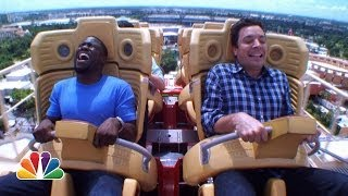 Video Jimmy and Kevin Hart Ride a Roller Coaster MP3, 3GP, MP4, WEBM, AVI, FLV Oktober 2018
