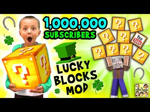 1 MILLION SUBSCRIBERS!  Minecraft Lucky Block Mod FGTEEV Gameplay Fun w/ Announcement (видео)