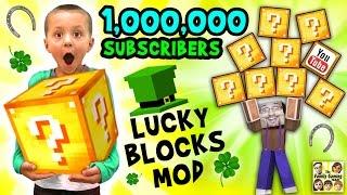 1 MILLION SUBSCRIBERS!  Minecraft Lucky Block Mod FGTEEV Gameplay Fun w/ Announcement