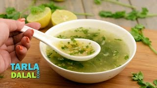 Lemon and Coriander Soup, vegetable stock, lemon and coriander used to give nice tangy flavour. Recipe Link ...