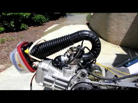 GY6 - GY6 Scooter Engine Bench Test.