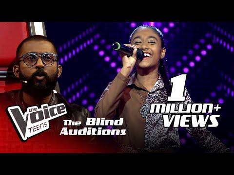Shakya Nethmi   Ravana (රාවණා)   Blind Auditions   The Voice Teens Sri Lanka