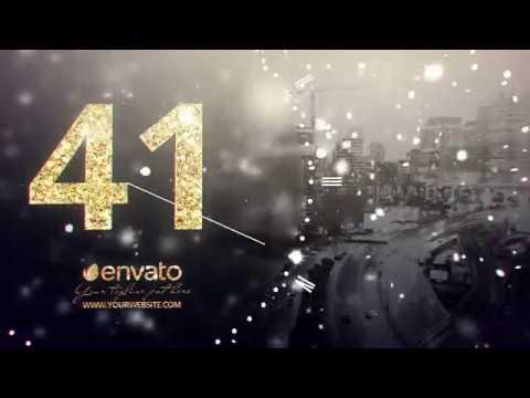 New Year Midnight Countdown Clock