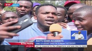 KTN Prime: Multimedia University students riot over reckless driving of Rongai matatus, 27/9/2016