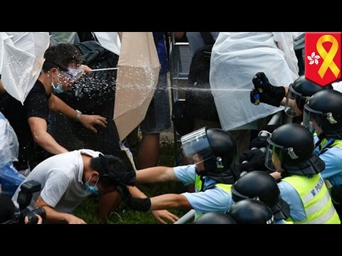 second - Pro-democracy protesters in Hong Kong swelled in number on Monday, despite the use of tear gas over the weekend by riot police. More students left school to join the Occupy Central movement,...