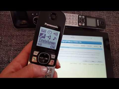 DECT Schnurloses Telefon anmelden 1&1 Fritzbox über  DSL