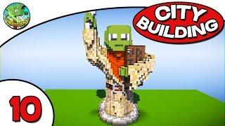 Minecraft City Building E10 - Yoda Statue??
