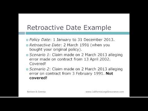 Legal Malpractice Insurance: Understanding Retroactive Dates and Claims Made