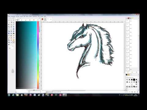 Pferd mit Grafiktablet zeichnen