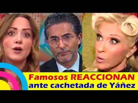 FAMOSOS REACCIONAN ante LA CACHETADA que Eduardo Yáñez le dio a un REPORTERO (videos)