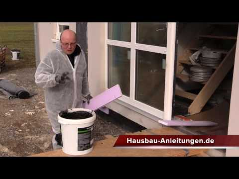 Einschlemmen von Bodenplatte und Fertighaus - Fertighaus abdichten