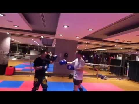 FitnesswithFood Muay Thai Session@Beverly Hills Tower-West Bay Doha