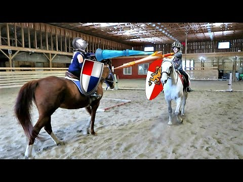 SISTERS JOUSTING WHILE HORSEBACK RIDING!! Day 282 (10/11/17)